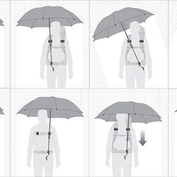 杖やシルバーカーを使われている方に朗報!! 手がふさがらない傘! フロム ドイツ。